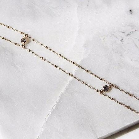 Amarilo Bardot Anklet - Gold