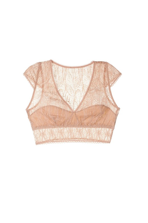 Karma Soft Cropped Top With Cap Shoulders