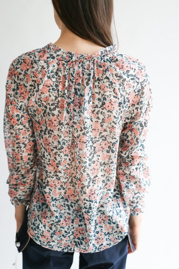 Veronica Beard Floral Silk Blouse, Size 6