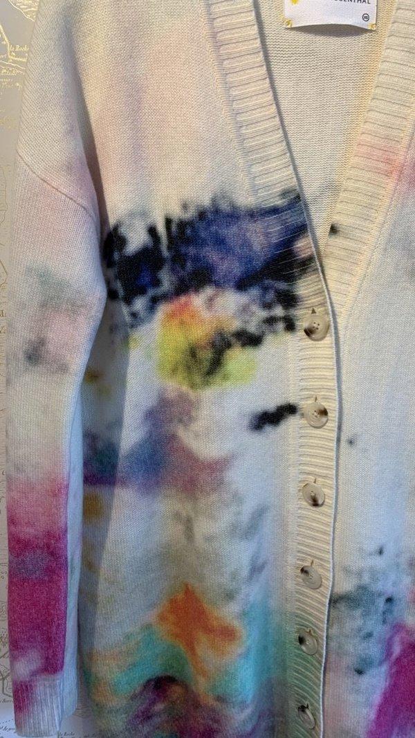 Kerri Rosenthal Jumbo Cashmere Cardigan - Multicolour