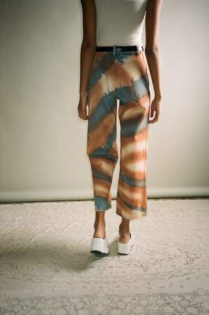 ECKHAUS LATTA Dune Spray Wide Leg Jean