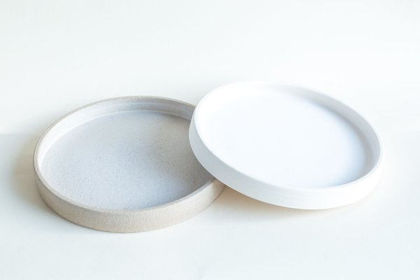 Almond Low Wall Medium Plate by Sara Karkenny