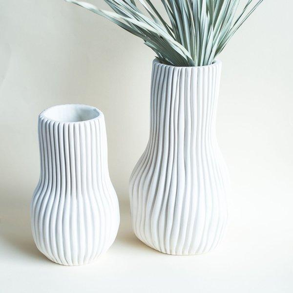 Cym Warkov Ceramics Organic Bottle Medium Vase - White