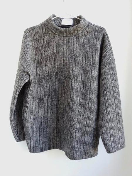 CF. Goldman Oversized Funnel Neck Sweater - Grey