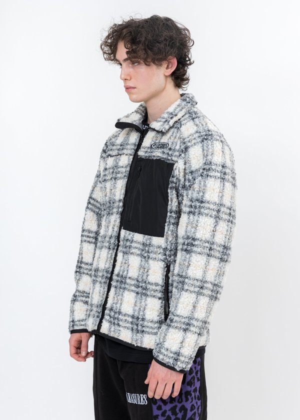 PLEASURES Wraith Poodle Fleece Jacket - Grey