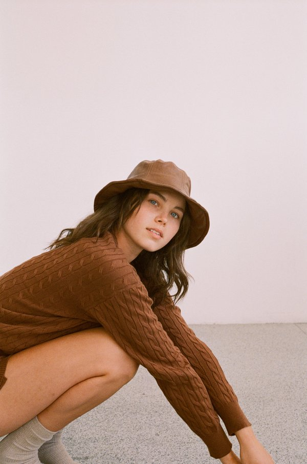 Wellington Factory Vegan leather Hat - Clay Brown