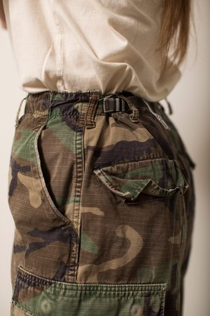 Vintage Military Trouser - Camouflage