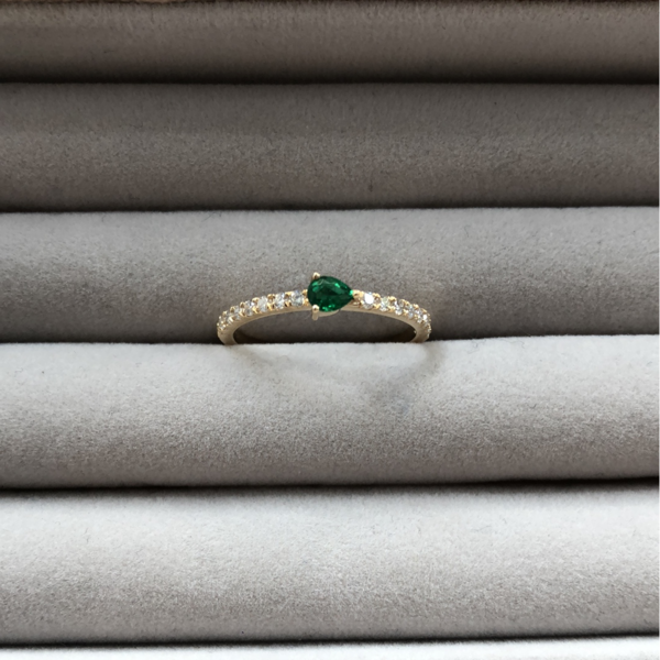 Gauhar Ring -  Gold/Diamond/Emerald