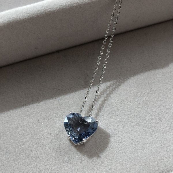 Gauhar Necklace - White Gold/Blue Sapphire