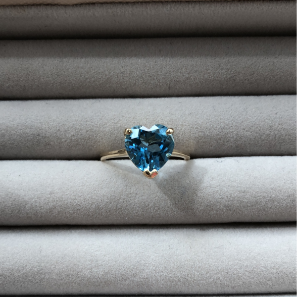 Blue Topaz & 14K Yellow Gold