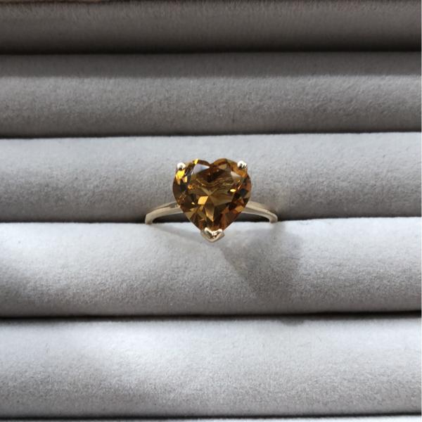 Gauhar Heart Ring - Yellow Citrine/Gold