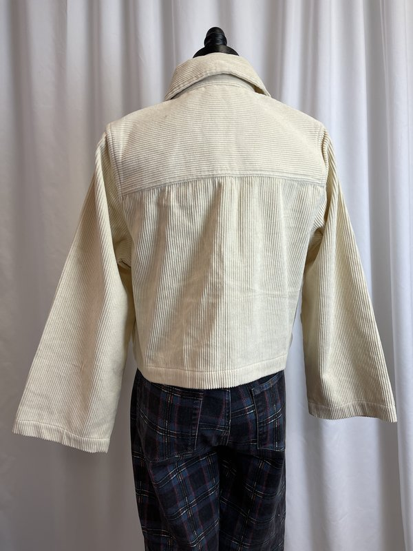 Back Beat Co. Cream Cord Crop Jacket (M)