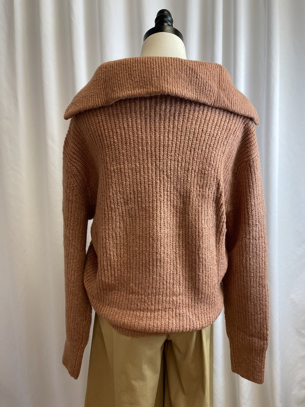 La Maille French Pink Quarter Zip Sweater (S/M)
