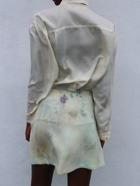 Vintage HOH Curate Hand-Dyed Skirt - Cream/Pastel