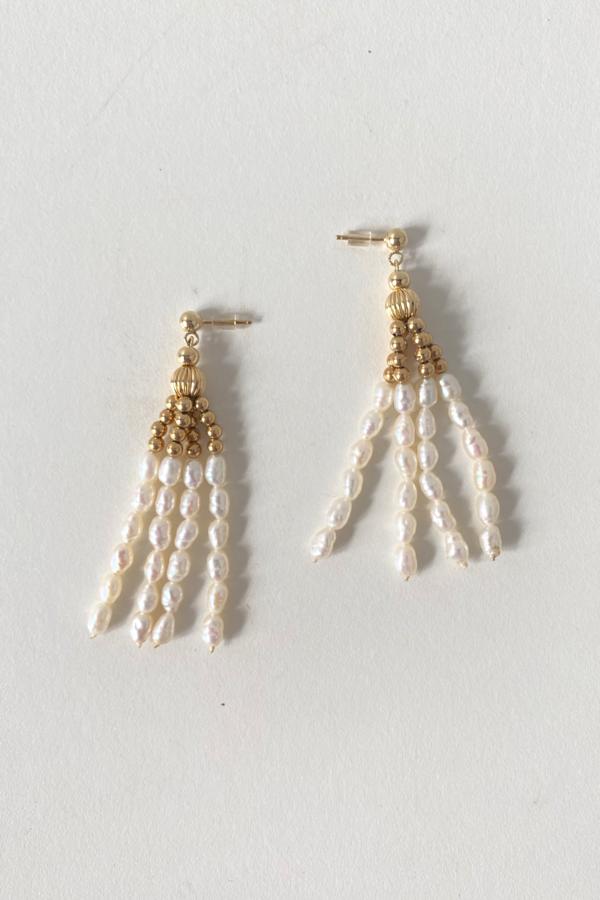 Vintage Pearl Tassel Earrings