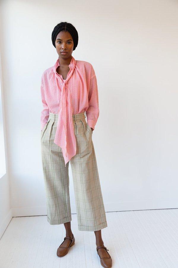 Caron Callahan Daisy Top - Pink Gauze Stripe