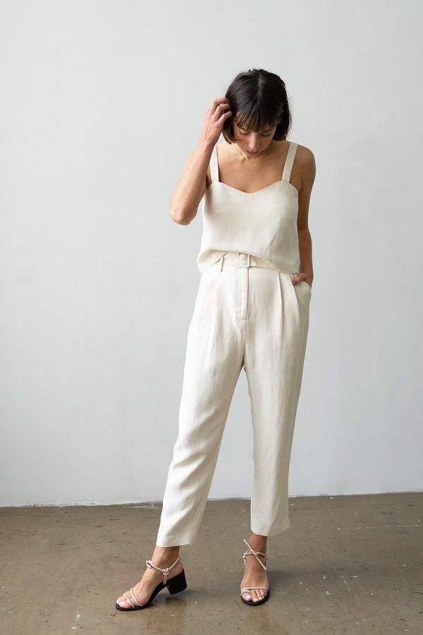 Waltz Belted Trouser - Ecru