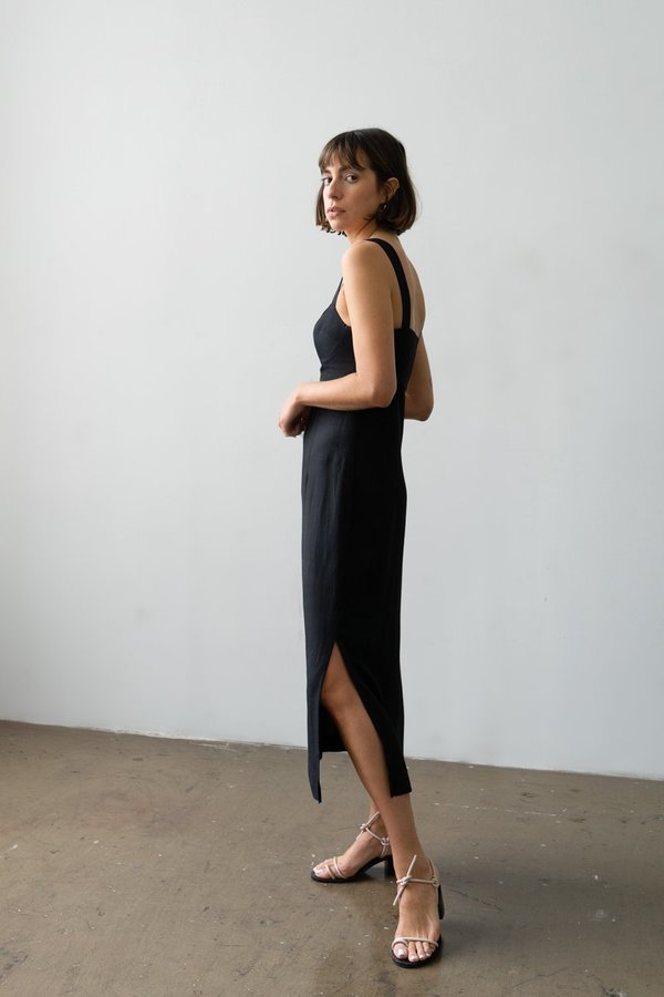 Waltz Bralette Dress - Black