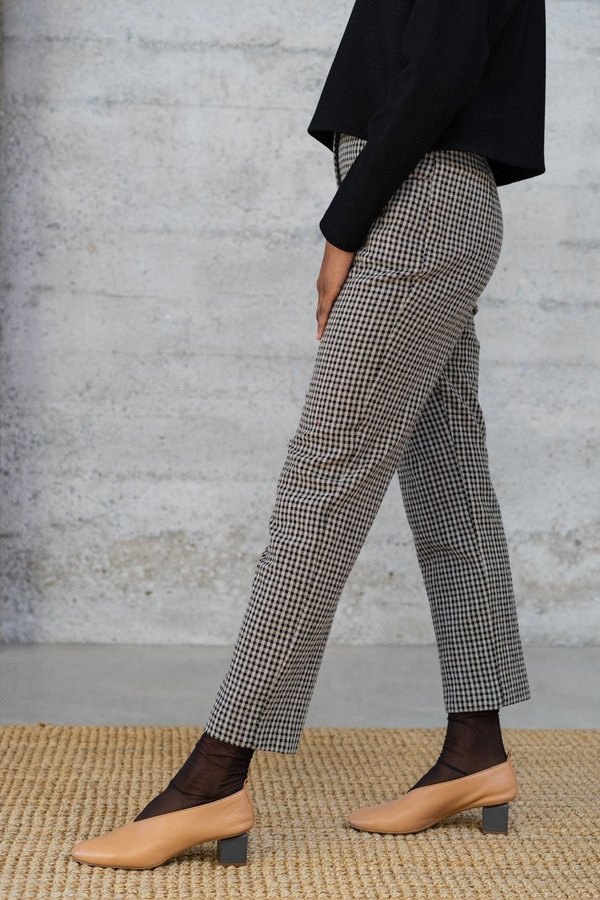 Waltz Cigarette Trousers - Checked Wool