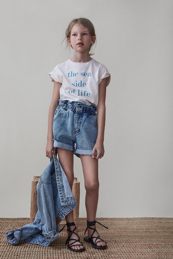 kids The New Society Lola Short - Light Blue Denim