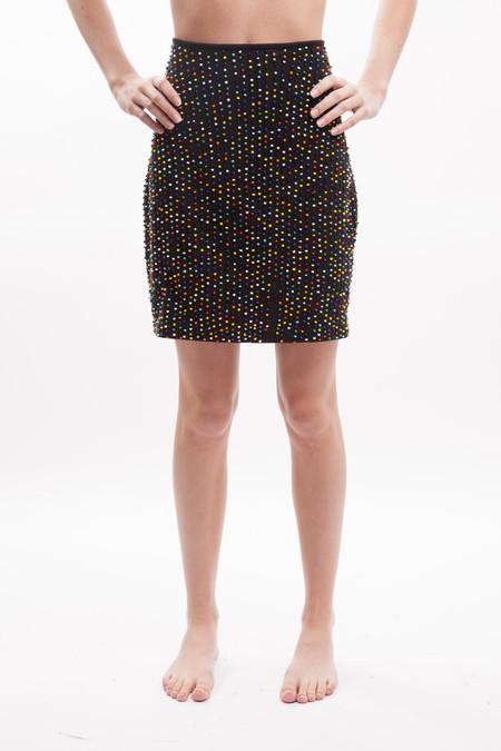 Vintage Vivienne Tam Beaded Skirt - Black Multi