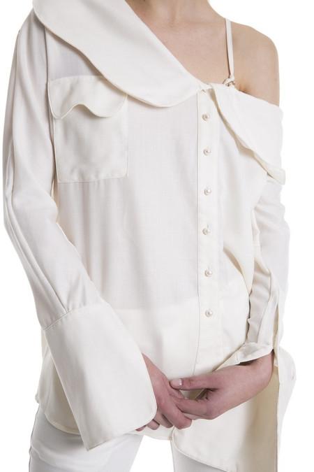 JH.Zane Drip Blouse - Off White
