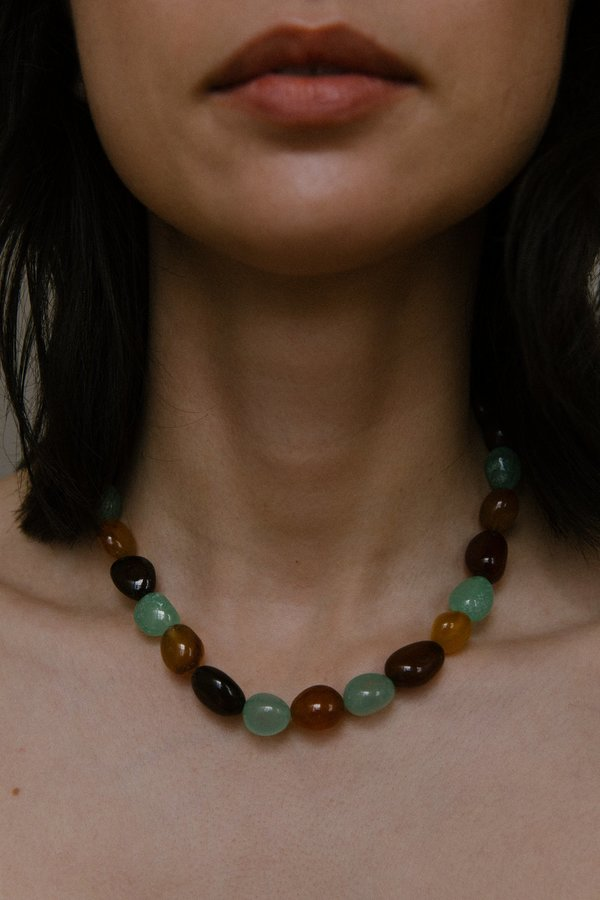 Vermeer Adeline necklace - Agate/Gold