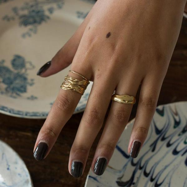 Merewif Deluge Ring - Gold