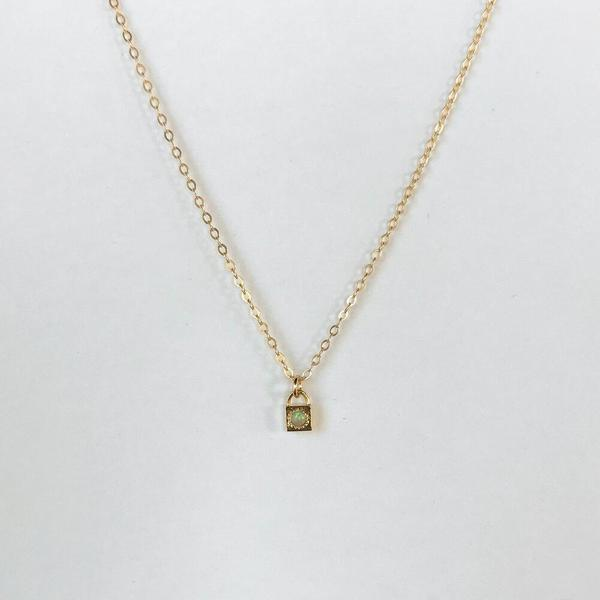 Merewif Loner Necklace - Opal/Gold