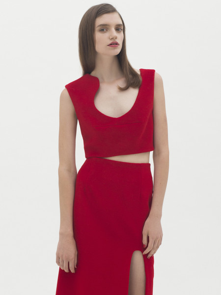 Karla Spetic  Curve Contour Top - Red