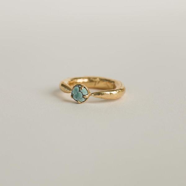Merewif PERILUNE RING - Turquoise/Gold
