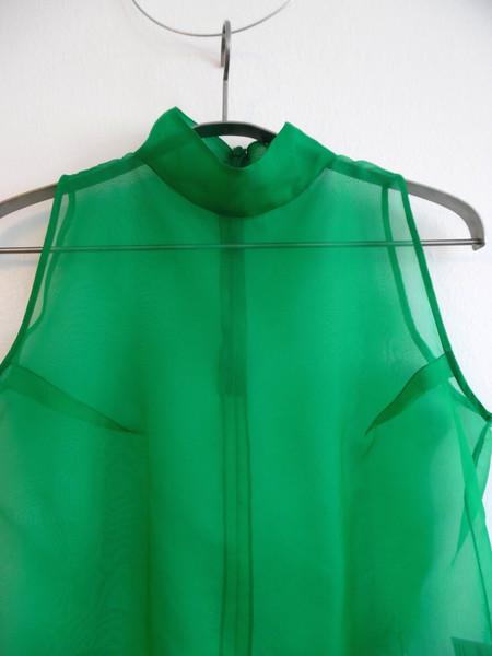 Karolyn Pho Sheer Cropped Mock Turtleneck - Emerald