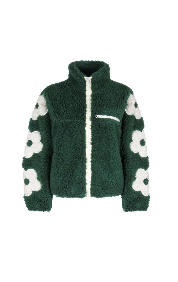 Sandy Liang Fleece Jacket - Grass