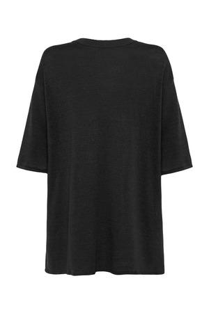 St. Agni Copain Linen Knit Tee - Black