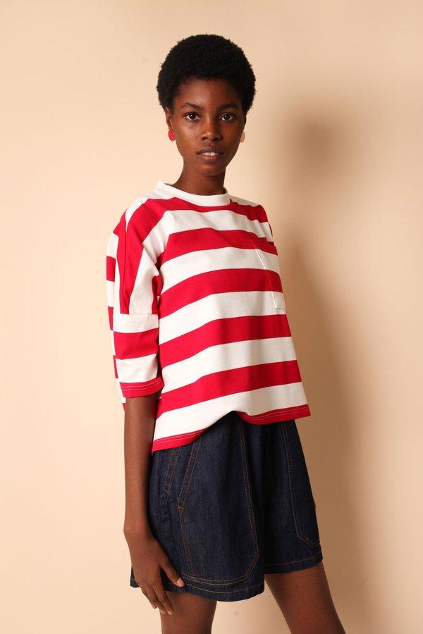 Unisex L.F.Markey Winston Tee - Red Stripe