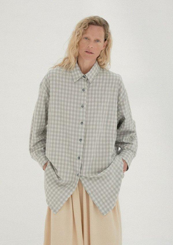 Checkered Shirt, Silver Blue