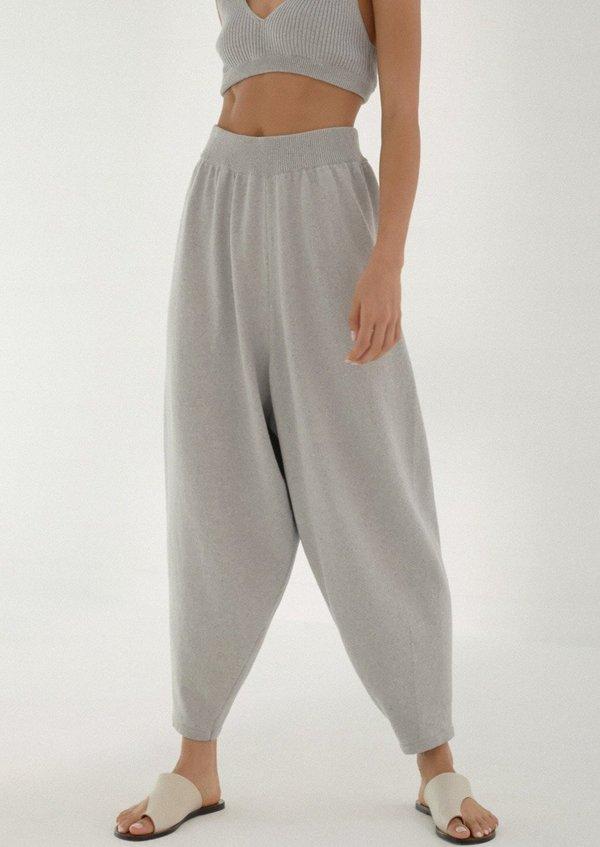 Mónica Cordera Knit Pants - Pearl Blue