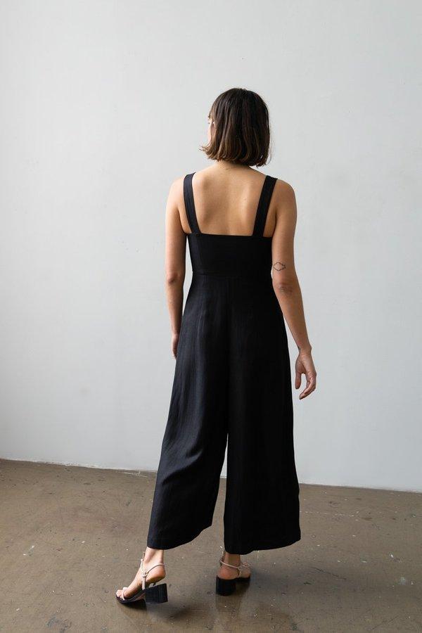 Waltz Bralette Jumpsuit - Black