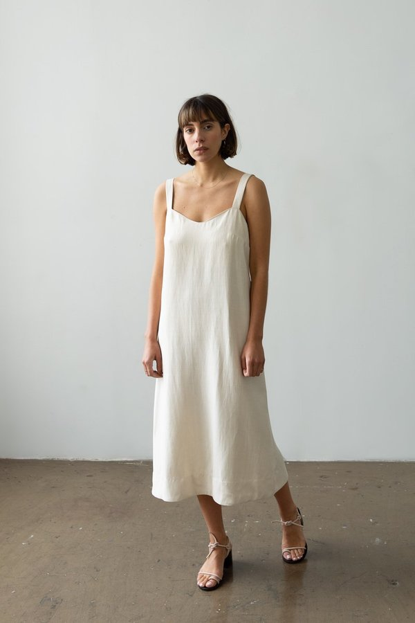 Waltz Wave Dress - Ecru