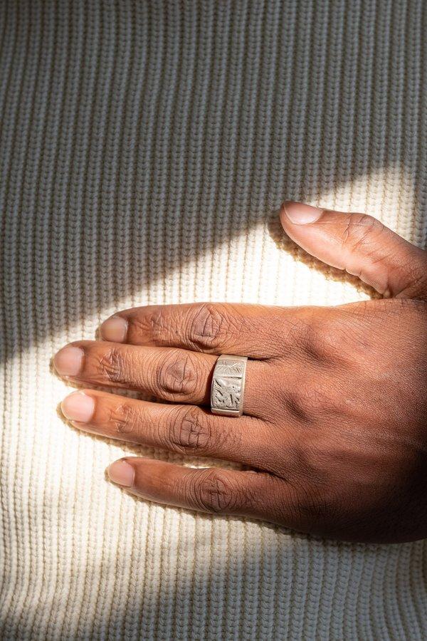 Vintage Sterling Ethiopian Lion Of Judah Ring No. 2