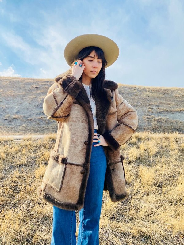 SHEEPSKIN MONTANA RANCH SHEARLING COAT