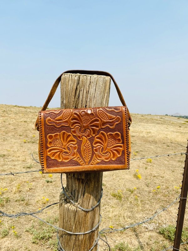 MOUNTAIN QUEEN TOOLED LEATHER BAG