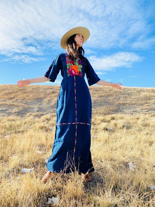 INDIGO MEADOWS DRESS