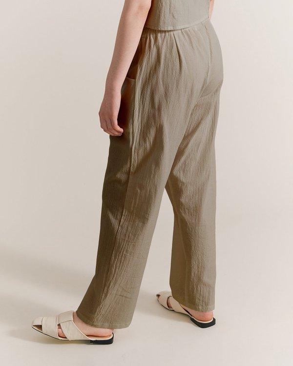 Maria Morgana hera cotton pants - sage