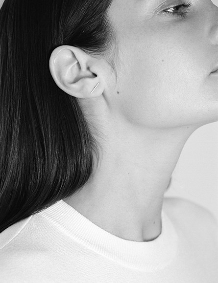 Kathleen Whitaker Gold Staple Earring