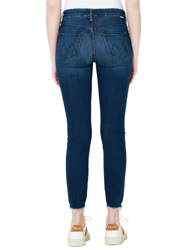 Mother Denim The High Waisted Looker Ankle Fray - Tongue In Chic