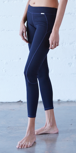 VPL X-Curvate Legging Navy: Winter Weight Knitted Ponte