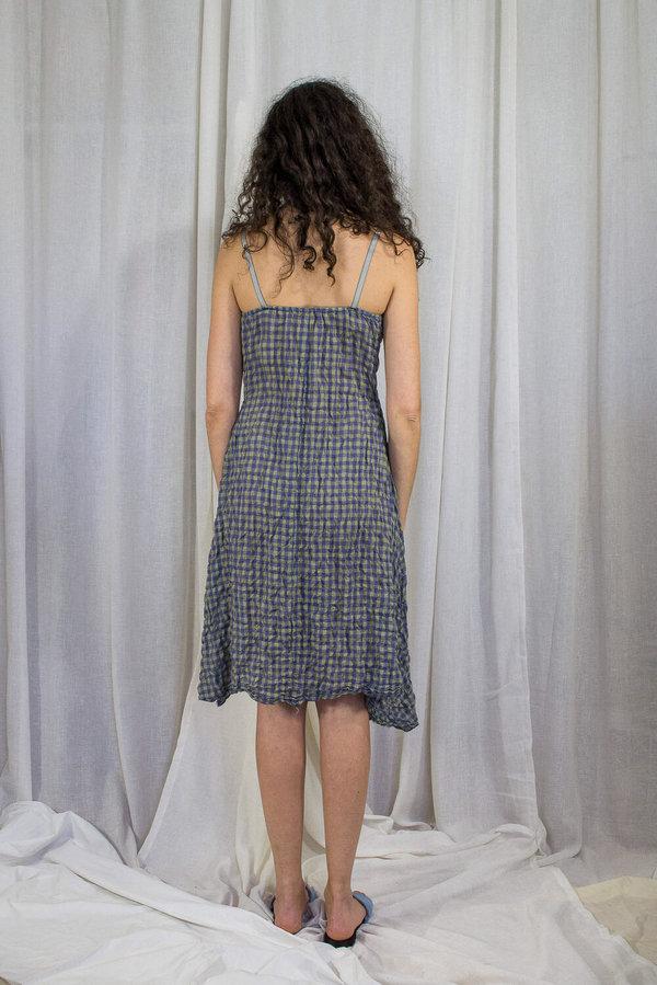 Kahle GINGHAM SLIP DRESS - LIGHTWEIGHT BLUE / GREEN