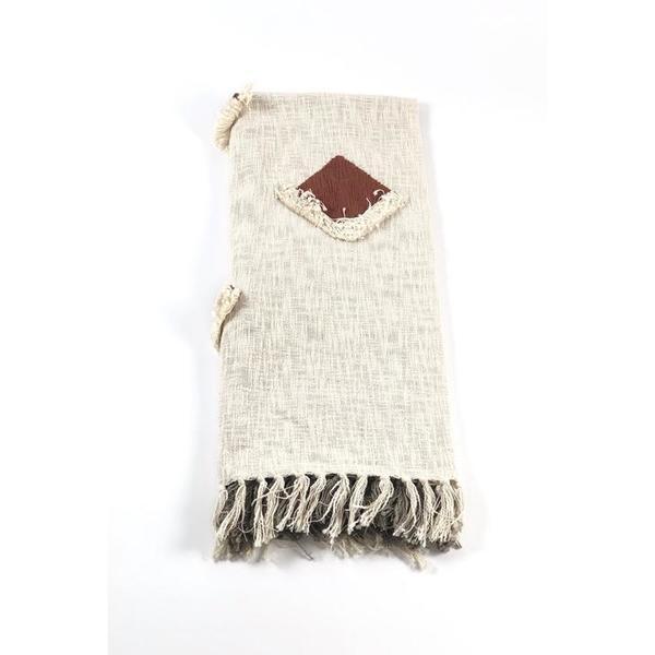 Handwoven Pom Pom Blanket