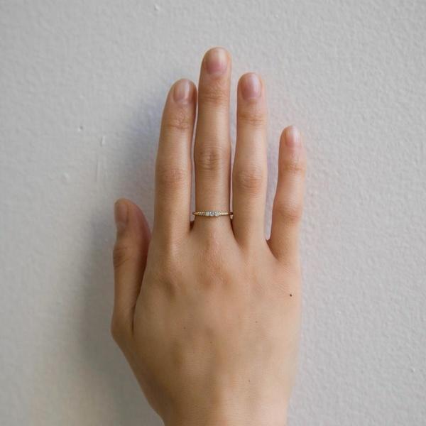 Jennie Kwon Designs Opal Equilibrium w. Diamonds Ring - 14K Gold